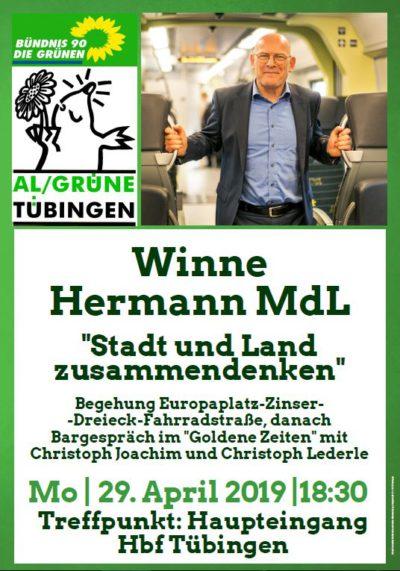 Winne Hermann - Stadt und Land zusammendenken @ Hbf Tübingen